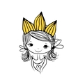 Girls princess with crown on head for your design vector image vector image