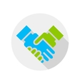 Handshake icon Flat design vector image