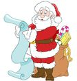 happy cartoon Santa Claus vector image vector image