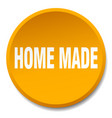 home made orange round flat isolated push button vector image vector image