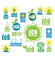 icons on environment and alternative energy vector image vector image