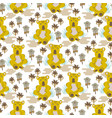 koala bear cute kids seamless pattern vector image
