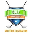 Label for golf sport competition Bright premium vector image vector image