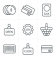 Line Icons Style Shopping Icon Set vector image vector image