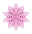 Lotus flower pink vector image