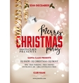 Merry Christmas party poster design template with vector image