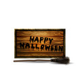 modern halloween old sign isolated vector image
