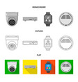 office and house icon vector image