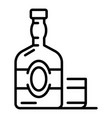 old whisky bottle icon outline style vector image
