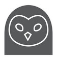 owl glyph icon animal and zoo bird sign vector image
