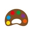 palette colors instrument school paint icon vector image vector image