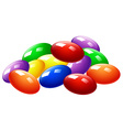 Pile of colorful candy vector image
