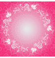 Pink floral lacy spring frame vector image vector image