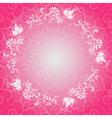 Pink floral lacy spring frame vector image