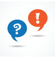 Question and answer on word bubble speech vector image vector image