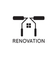 Renovation House remodelingflat designnegative vector image vector image