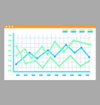 screen with graphs diagrams isolated page vector image