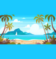 sea landscape tropical beach ocean seashore vector image vector image