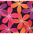 seamless abstract 70s flowers pattern pink vector image vector image