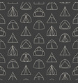 seamless pattern made of line art touristic tents vector image vector image