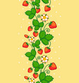 seamless pattern with of strawberries vector image vector image