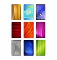 Set abstract colored drapery background vector image