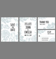 set template wedding invitation monochrome vector image vector image