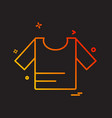shirt icon design vector image