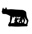 symbol rome antiquity capitoline wolf vector image vector image