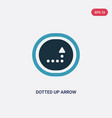 two color dotted up arrow icon from user vector image vector image