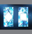 two ice banners vector image vector image