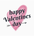 valentines day vintage lettering on white design vector image
