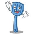 waving spatula character cartoon style vector image vector image