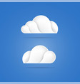 white clouds icons on blue background vector image vector image
