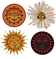 four kinds of sun in the old Russian style vector image