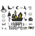 set for halloween party vector image