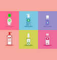 a collection various hand sanitizers from vector image vector image