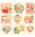 baby stickers layered vector image vector image
