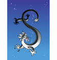 black dragon in the sky vector image