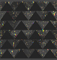 black triangle pattern with grunge spots vector image vector image