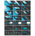 blue and black elements for infographics vector image vector image