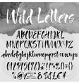 Brush lettering alphabetical set vector image vector image