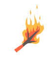 burning dry branch vector image