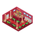 casino interior with roulette isometric vector image vector image