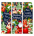 christmas new year holiday greeting banners vector image vector image