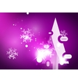 Christmas purple abstract background with white vector image vector image