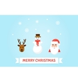 Christmas symbols card in vector image vector image