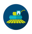combine harvester flat icon vector image vector image