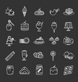 confectionery chalk icons set vector image