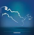 Doodle Map of Uzbekistan vector image vector image